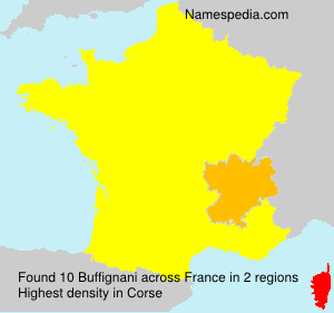 Surname Buffignani in France