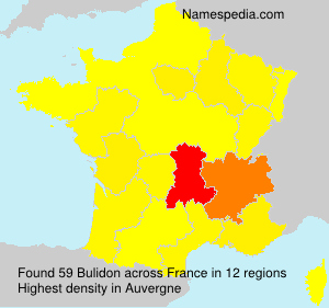 Surname Bulidon in France