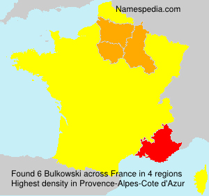 Surname Bulkowski in France