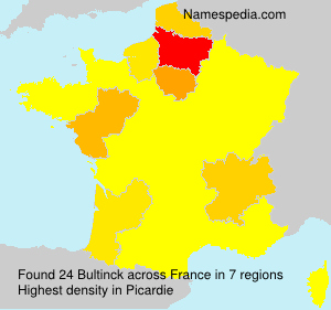 Surname Bultinck in France