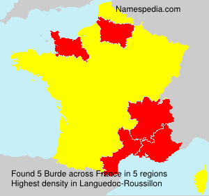 Surname Burde in France