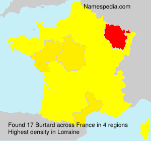 Surname Burtard in France