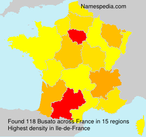 Surname Busato in France