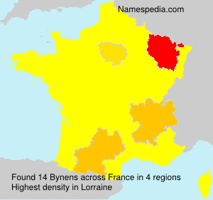 Surname Bynens in France