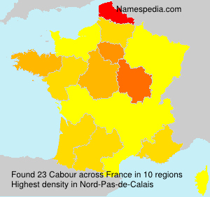 Surname Cabour in France