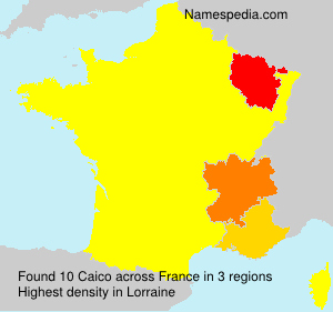 Surname Caico in France