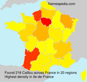 Surname Caillou in France
