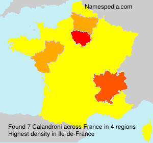 Surname Calandroni in France