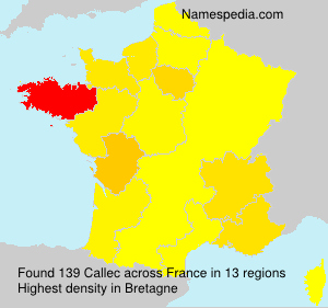 Surname Callec in France