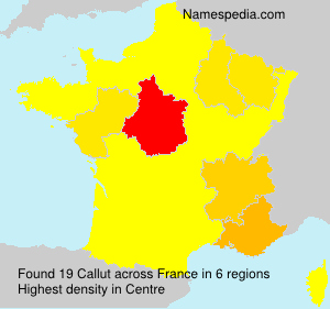 Surname Callut in France