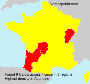 Surname Calois in France