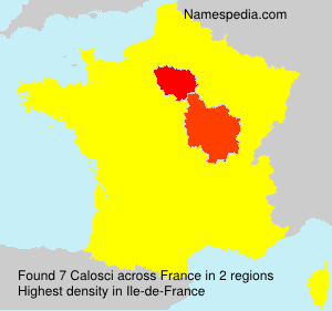 Surname Calosci in France