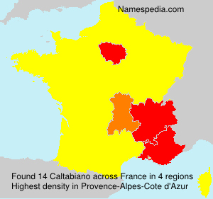 Surname Caltabiano in France