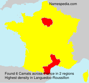 Surname Camats in France