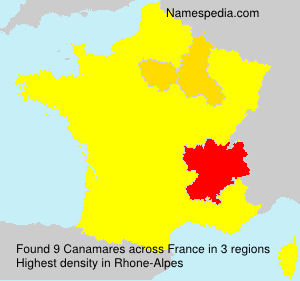Surname Canamares in France