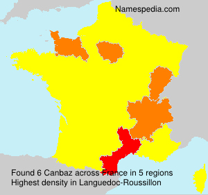 Surname Canbaz in France