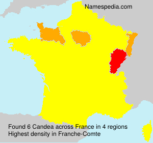 Surname Candea in France