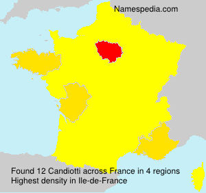 Surname Candiotti in France