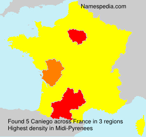 Surname Caniego in France