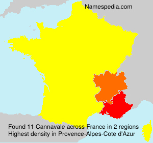 Surname Cannavale in France