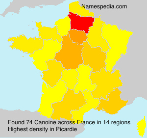 Surname Canoine in France