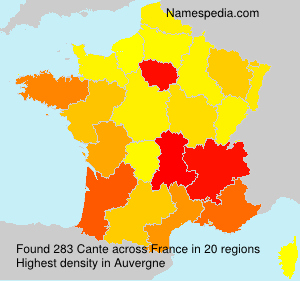 Surname Cante in France