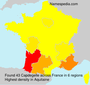 Surname Capdegelle in France