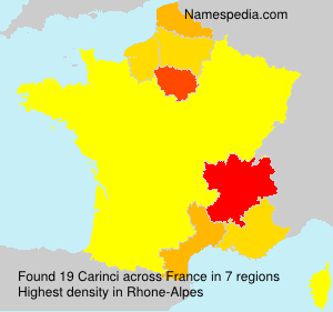 Surname Carinci in France
