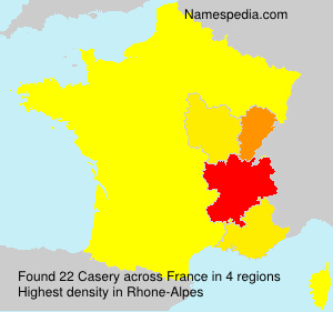 Surname Casery in France