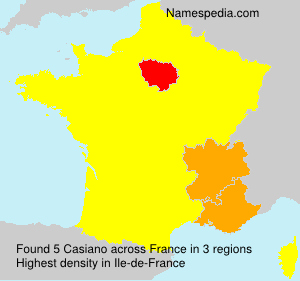 Surname Casiano in France