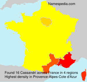 Surname Cassandri in France