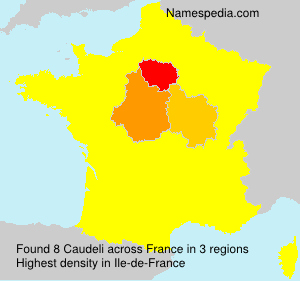Surname Caudeli in France