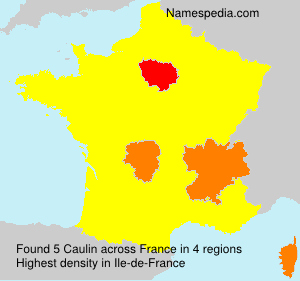 Surname Caulin in France