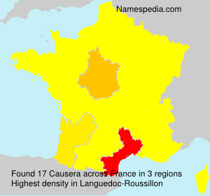 Surname Causera in France