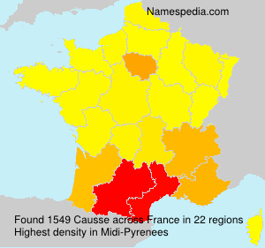 Surname Causse in France