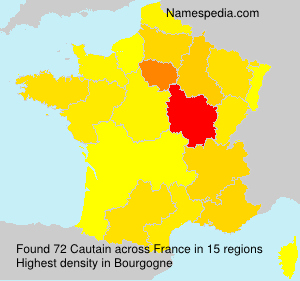 Surname Cautain in France