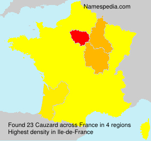 Surname Cauzard in France