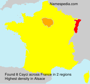 Surname Cayci in France