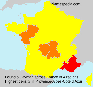 Surname Cayman in France