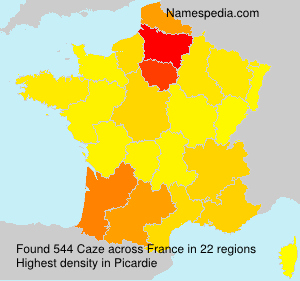 Surname Caze in France