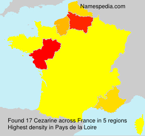 Surname Cezarine in France