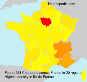Surname Chaabane in France