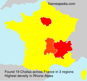 Surname Chafaa in France