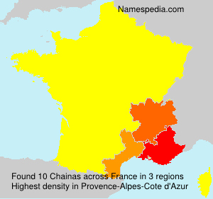 Surname Chainas in France