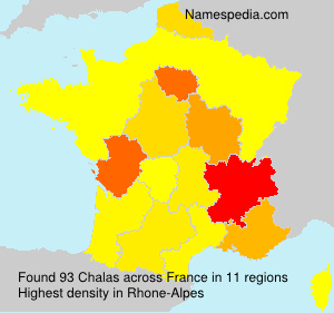Surname Chalas in France