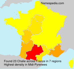 Surname Chalie in France