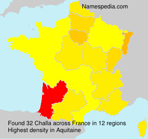 Surname Challa in France