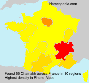 Surname Chamakh in France