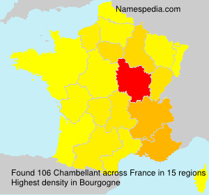 Surname Chambellant in France