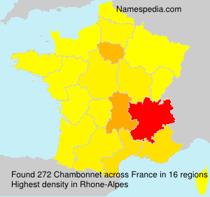Surname Chambonnet in France